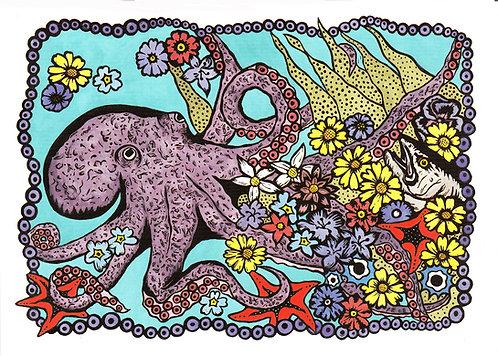 Octopus's Garden | postcard