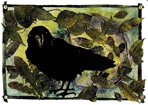 Raven's Loose Strings and Shiny Things   notecard