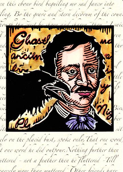 Poe's Raven   notecard