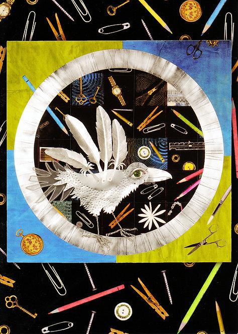 Raven Wheel V: Steel Wheel | notecard