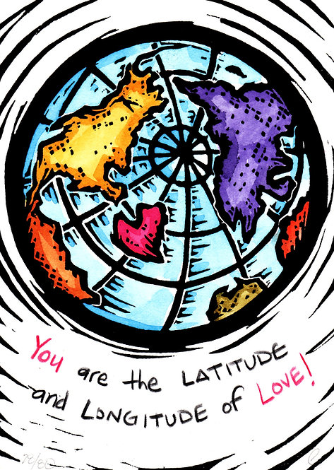 YOU are the Latitude and Longitude of LOVE!