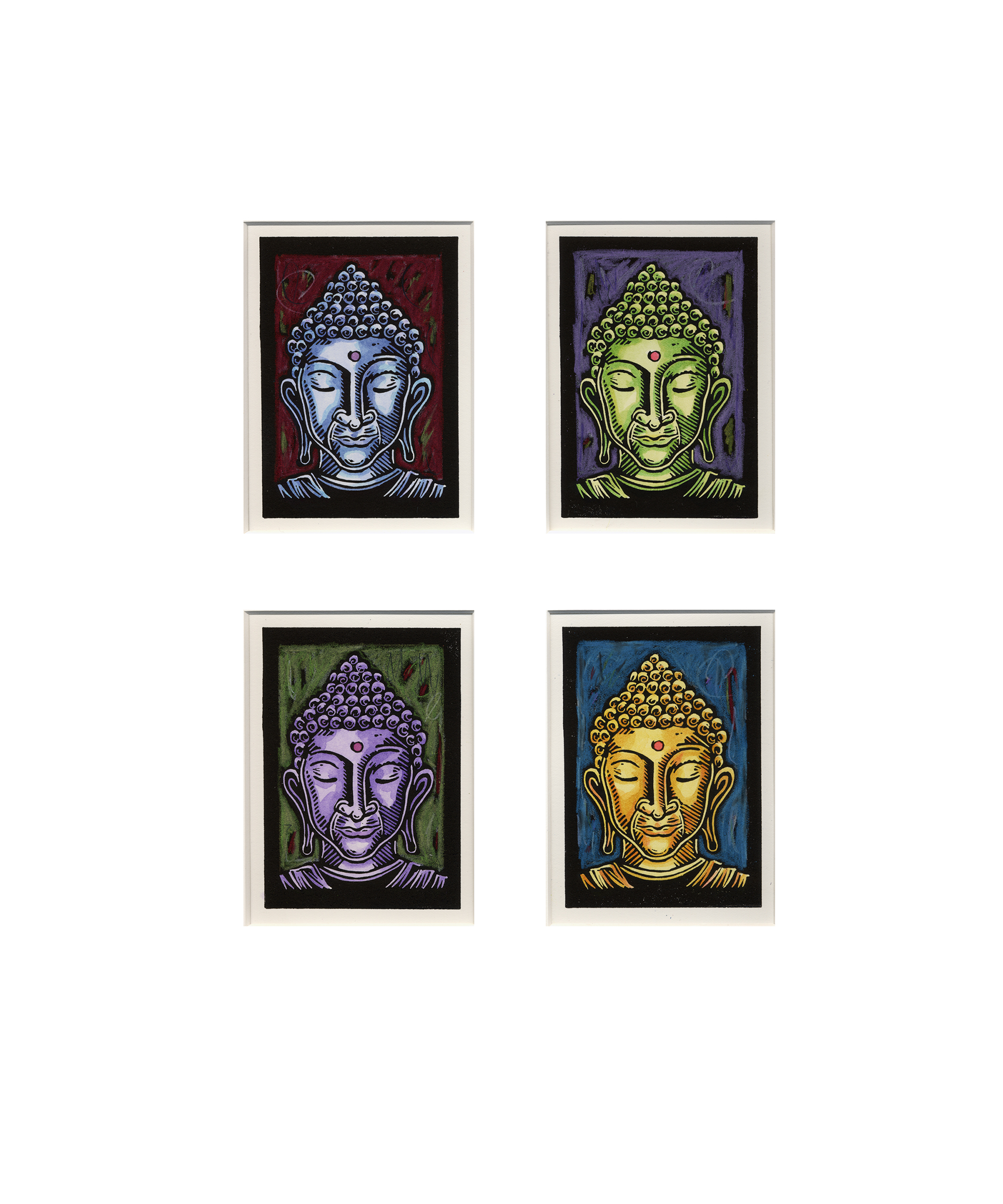 Four Buddha Heads