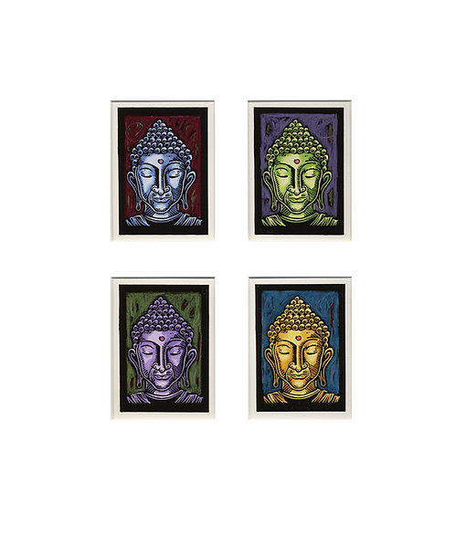 Four Buddha Heads