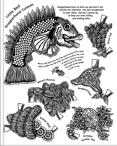 Fish Paper Doll