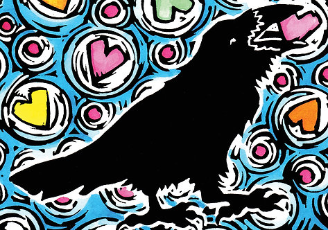 Raven's Love | notecard
