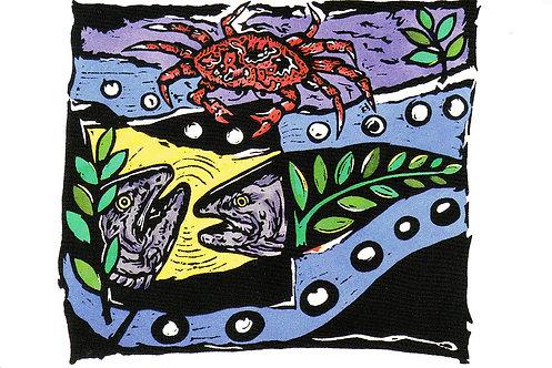 Crab Bait | postcard