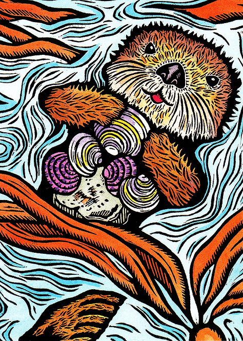 Sea Otter | notecard