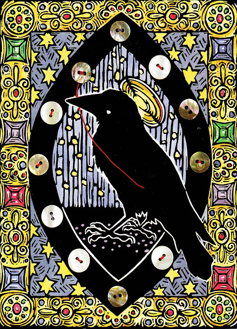 Raven Icon | holiday notecard