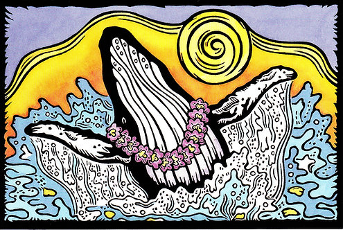 Whale Aloha | postcard