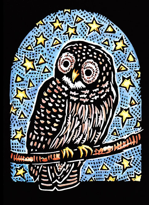 Owl | holiday notecard