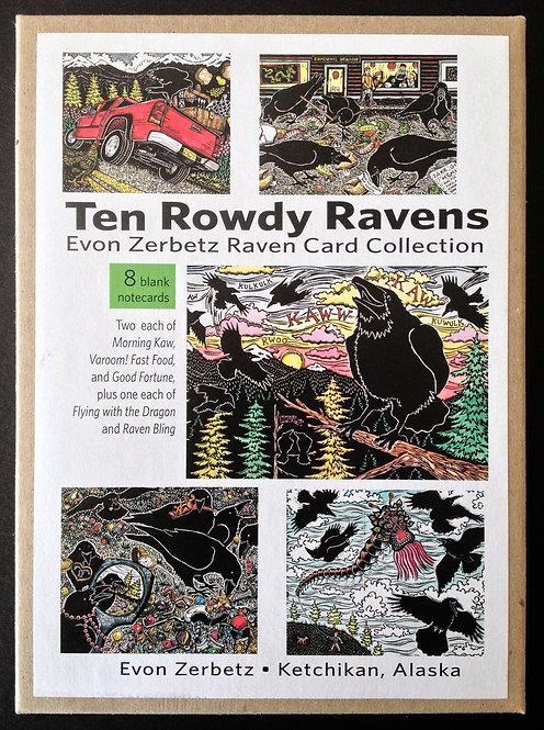 Ten Rowdy Ravens | Card Collection