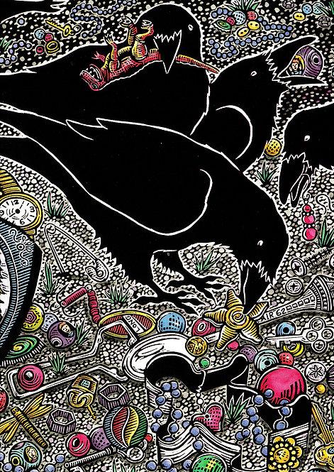Raven Bling | notecard