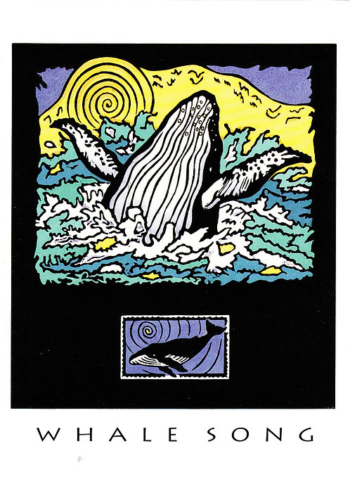 Whale Song | notecard