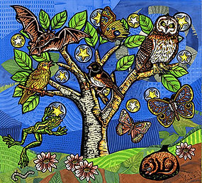 Quilting Fabric with Owl