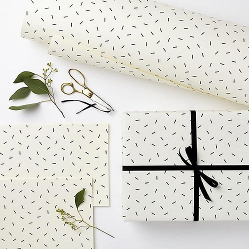 Black Fleck Gift Wrap