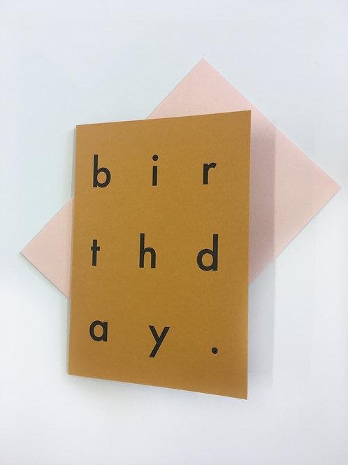 Mustard Birthday Card