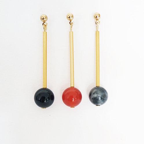 Brass Bracelet Beaded Stud Earrings