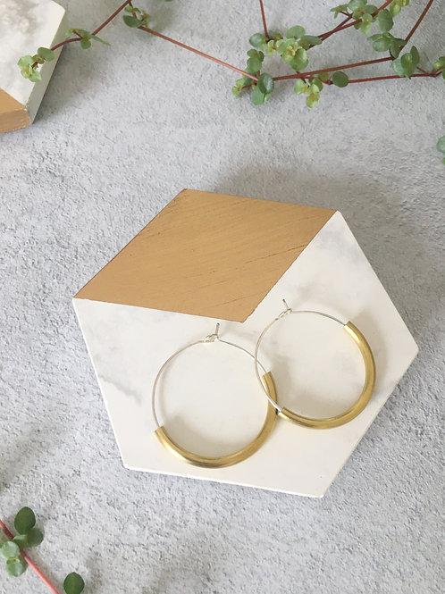 Brass & Bold Hoop Earrings
