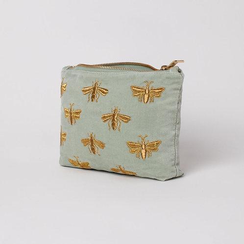 Elizabeth Scarlett Velvet Bee Make-Up Bag