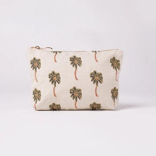Cotton Palm Tree Wash Bag