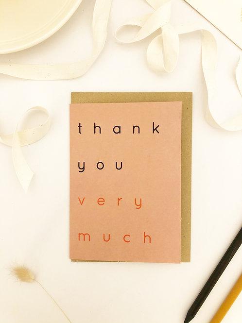 Thank You VM Card