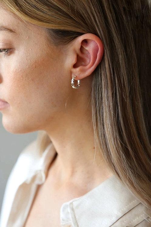 Tutti & Co. Stardust Hoop Earrings