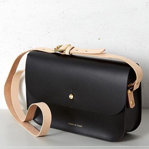 Honey & Toast Black Shoulder Bag