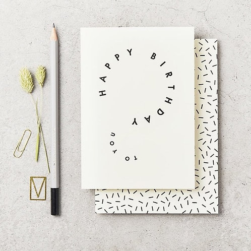 Happy Birthday Q Card