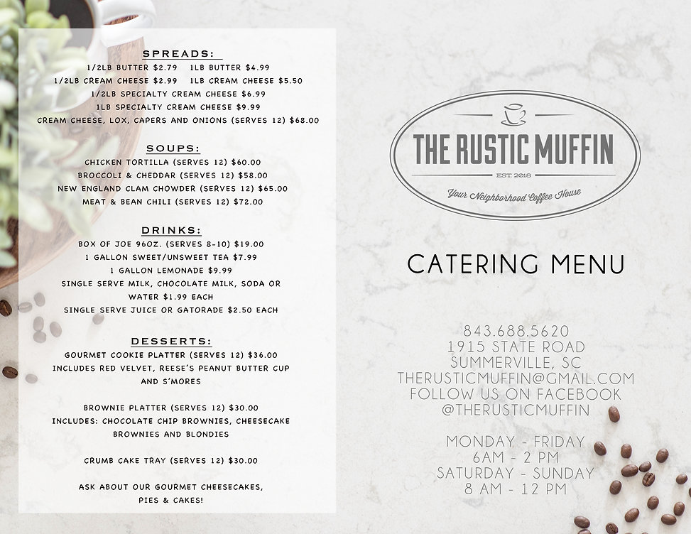 Rustic Muffin Catering Menu  OUTSIDE_FIN