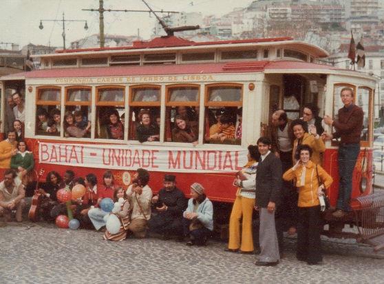 Elétrico alugado para proclamação (1977)