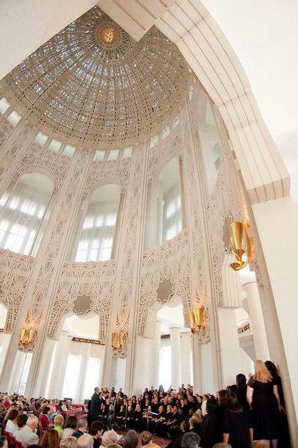 Templo de Chicago, Vista Interior