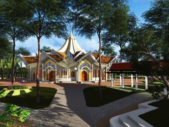 Apresentação do Projeto da Casa de Adoração Bahá'í, no Camboja