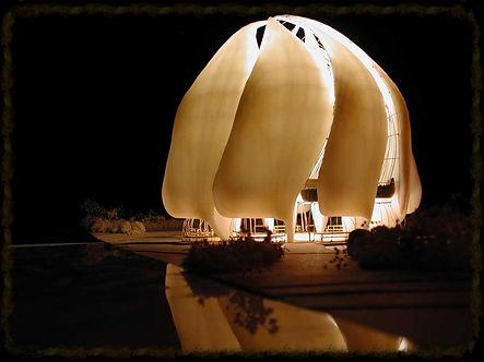 Maquete do Templo Bahá'í sob Construção, América do Sul (Chile)