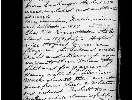 Stephen and Lucinda Boyce: San Juan Island Settlers Who Arrived Earlier than Previously Reported