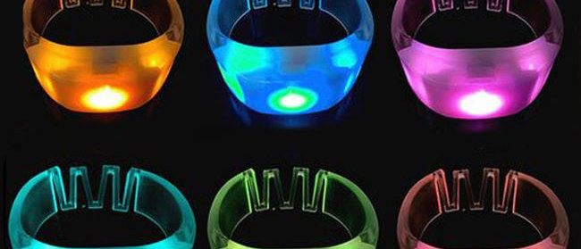 Small Controllable LED Bracelets Set