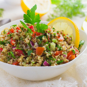 Taboulé de quinoa à la menthe et au concombre