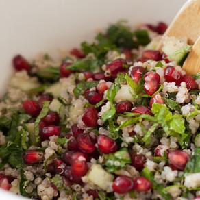 Taboulé de quinoa à la menthe et à la grenade