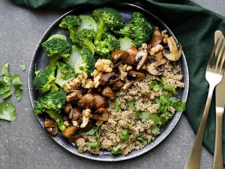 Quinoa aux brocolis et champignons
