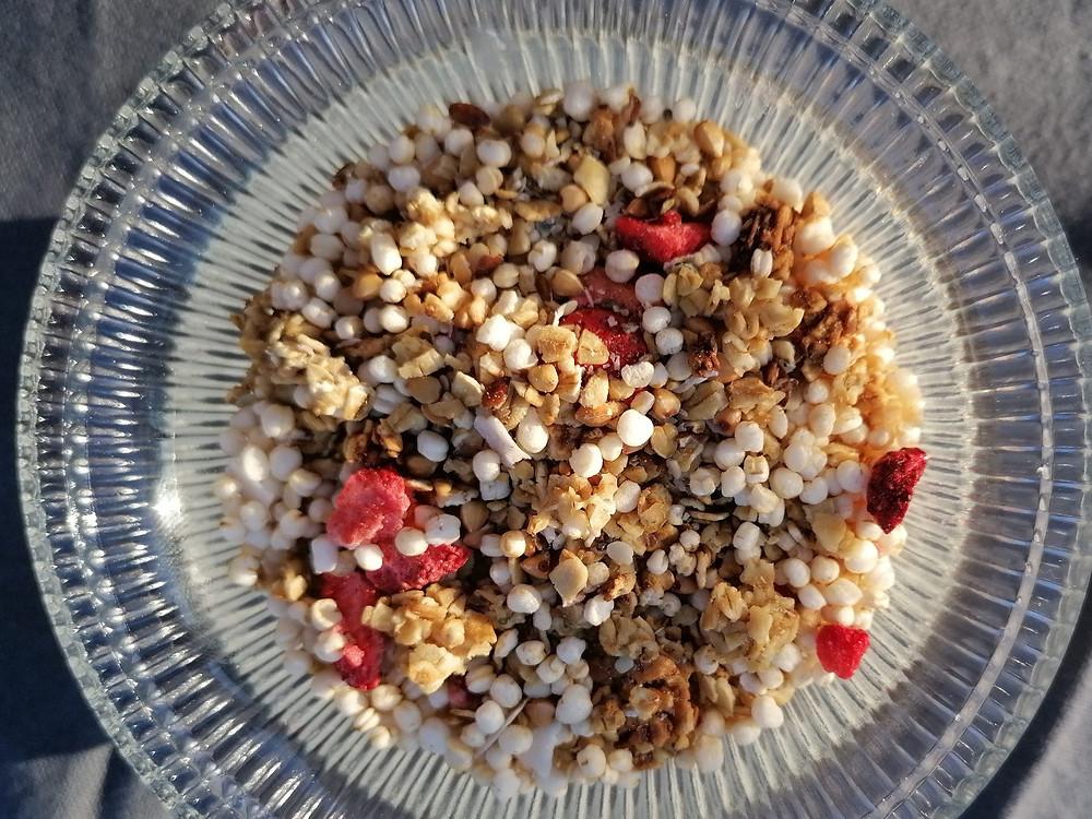 Granola aux fruits rouges séchés