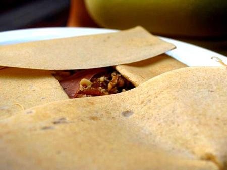 Crêpe salée traditionnelle à la farine de sarrasin