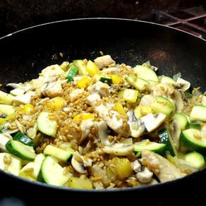 Risotto de petit épeautre aux légumes