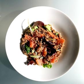Salade de lentilles et quinoa au saumon fumé