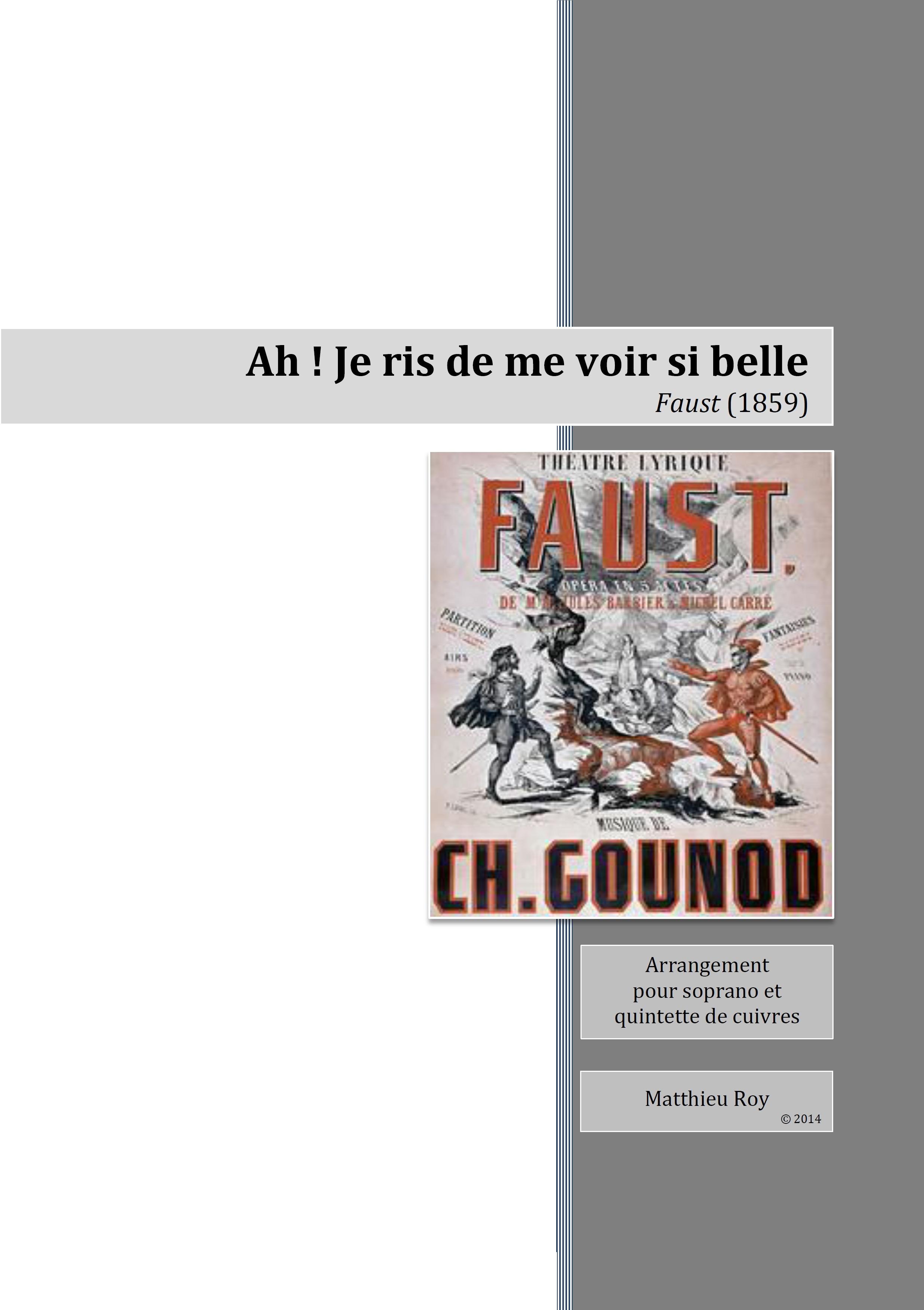 SCORE 2014 Gounod, Faust, Air des bijoux