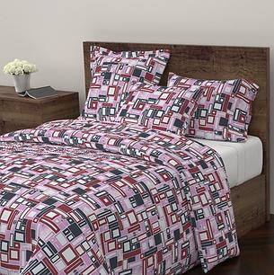 Oblongs and squares pattern duvet