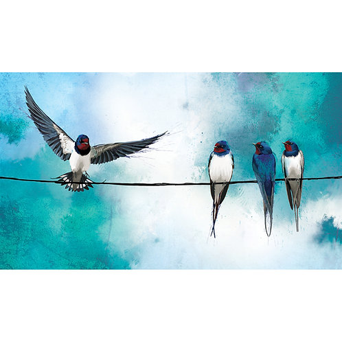Swallows on a Wire II - ORIGINAL