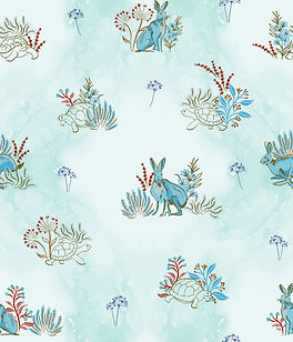 Tortoise and Hare repeating pattern design