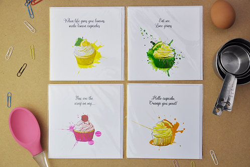 Cupcake Crazy Cards - SALE Pack of 4