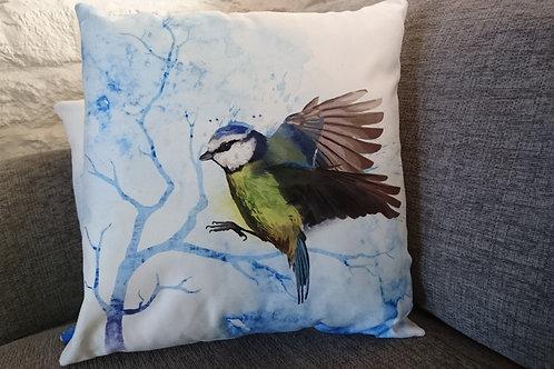 Flying Blue Tit Cushion