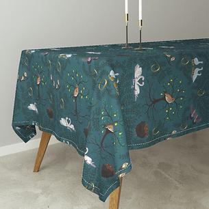 12 Days of Christmas Bird table cloth