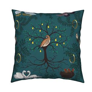 12 Days of Christmas Bird Cushion